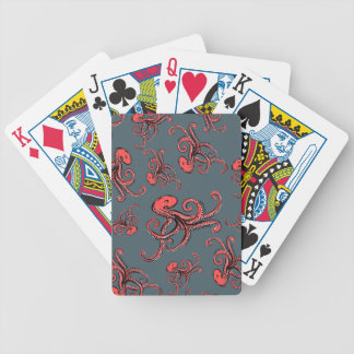 Sneaky Octopus Pattern Bicycle Playing Cards