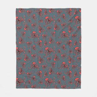 Sneaky Octopus Pattern Fleece Blanket