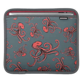 Sneaky Octopus Pattern iPad Sleeve