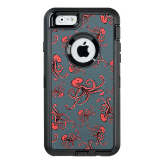 Sneaky Octopus Pattern OtterBox Defender iPhone Case