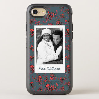 Sneaky Octopus Pattern | Your Photo & Name OtterBox Symmetry iPhone 8/7 Case