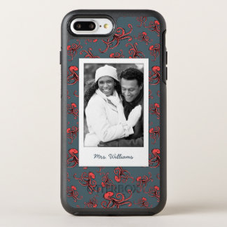 Sneaky Octopus Pattern | Your Photo & Name OtterBox Symmetry iPhone 8 Plus/7 Plus Case