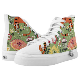 Sneaky tigers printed shoes