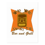 Sneaky Tiki Bar and Grill Vertical Post Card