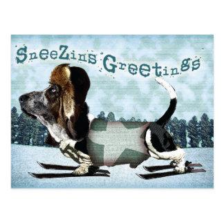 Sneezins Greetings - Christmas postcard