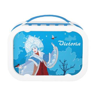 Snegurochka russian style illustration. Snowmaiden Lunch Box