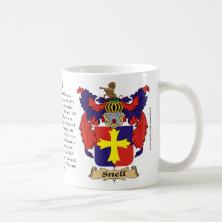 Snell, the Origin, the Meaning and the Crest Mug