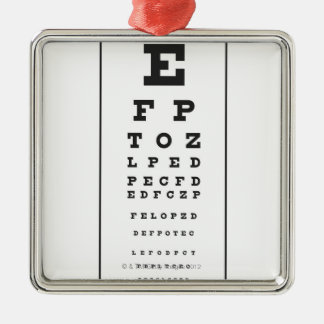Snellen Chart Christmas Ornament