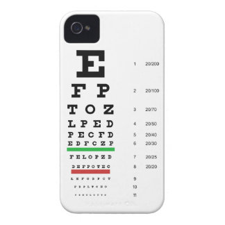Snellen Eye Chart Barely There iPhone 4 Cas iPhone 4 Case-Mate Case