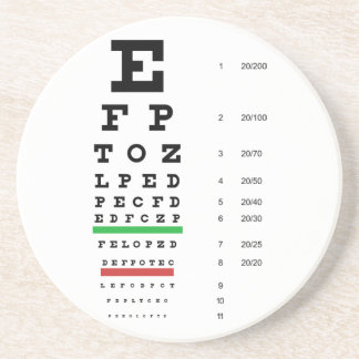 Snellen Eye Chart Coaster