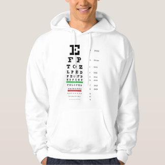 Snellen Eye Chart Hooded Sweatshirt