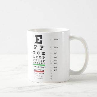 Snellen Eye Chart Mug