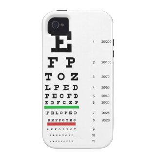Snellen Eye Chart Tough iPhone 4 Case