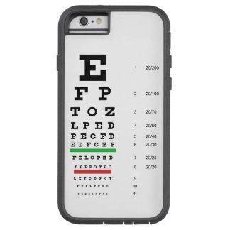 Snellen Eye Chart Tough Xtreme iPhone 6 Case