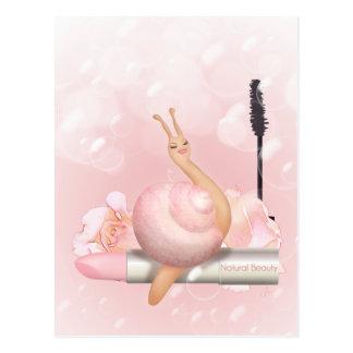 "Sneople ""Natural Beauty Bubbles"" snail on Lipstick Postcard"
