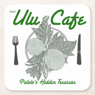 Snerk's Ulu Cafe disposable square coasters