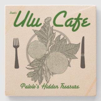 Snerk's Ulu Cafe Sandstone Coaster