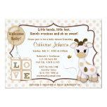 Snickerdoodle Giraffe Baby Shower Invitations 13 Cm X 18 Cm Invitation Card