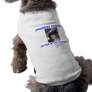 SNICKERS SLEEVELESS DOG SHIRT