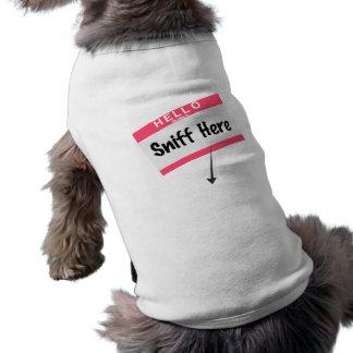 Sniff Here Sleeveless Dog Shirt