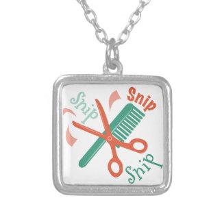 Snip Snip Square Pendant Necklace