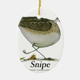 Snipe bird, tony fernandes christmas ornament