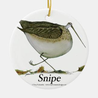 Snipe bird, tony fernandes round ceramic decoration