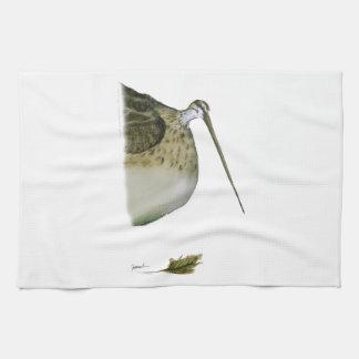 snipe bird, tony fernandes tea towel