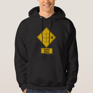 Sniper Ahead Warning Sign (Crosshairs) Hoodie