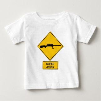 Sniper Ahead Warning Sign Shirts