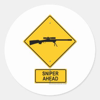 Sniper Ahead Warning Sign Sticker