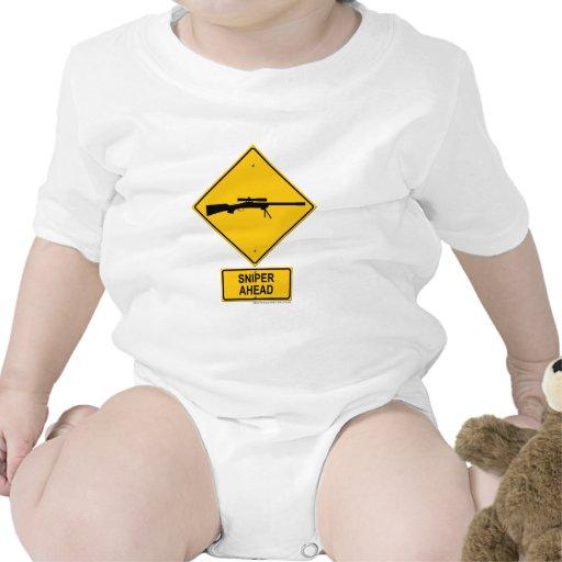Sniper Ahead Warning Sign Tee Shirt