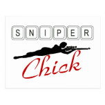 Sniper Chick Postcard