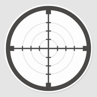 sniper finder target symbol weapon gun army classic round sticker