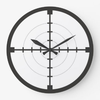 sniper finder target symbol weapon gun army large clock