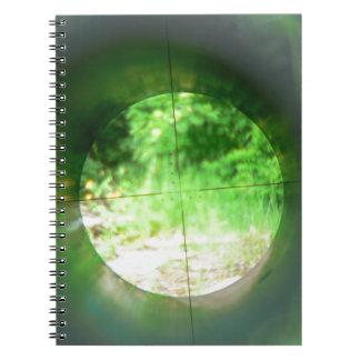 Sniper Scope Spiral Notebooks