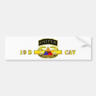 Sniper Tab 19D Cav Scout 1st AD Bumper Sticker