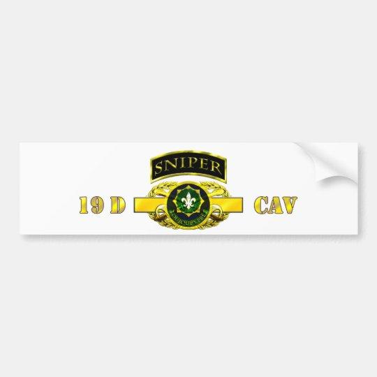 Sniper Tab 19D Cav Scout 2nd Cav Reg Bumper Sticker