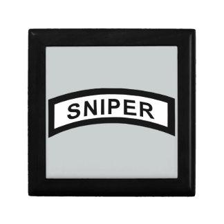 Sniper Tab - Black & White Small Square Gift Box