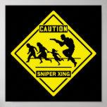 Sniper Xing - Wall / Door Sign Poster