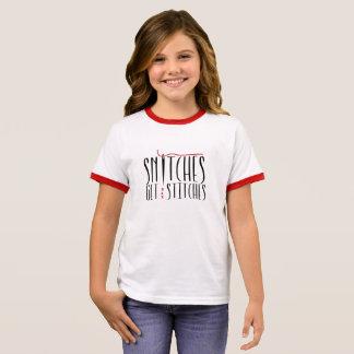 Snitches Get Stitches Kids T-Shirt