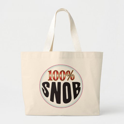 Snob Tag Canvas Bag