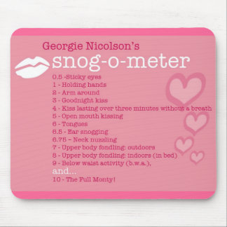 Snog-O-Meter Mouse Pad