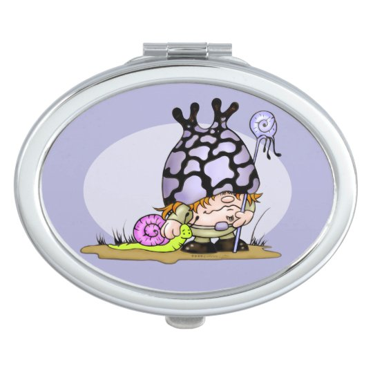 SNOG & TRIPOK CARTOON LOVE compact mirror OVAL
