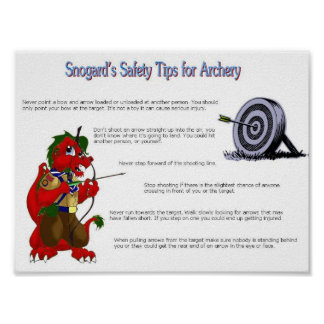 Snogard's Safety Tips for Archery Poster