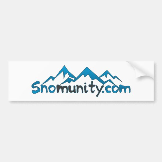 Snomunity Logo Bumper Sticker