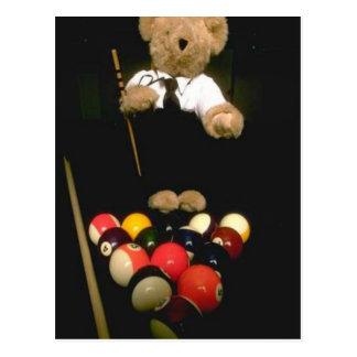 Snooker bear postcard