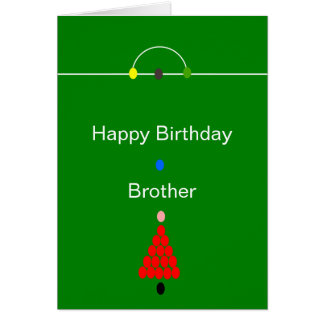 Snooker Brother Birthday Card