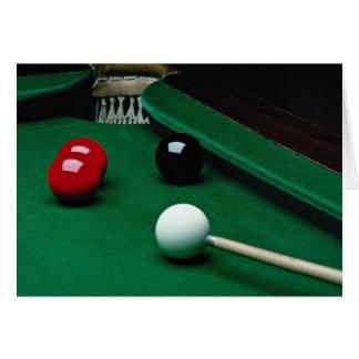 Snooker equipment card