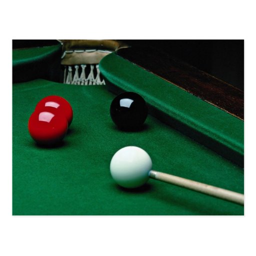 Snooker equipment post cards